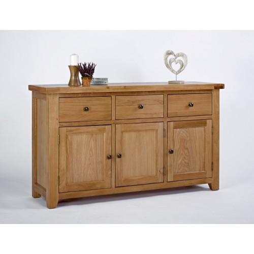 Devon Oak 3 Door 3 Drawer Sideboard