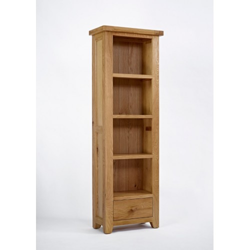 Devon Oak Narrow Bookcase
