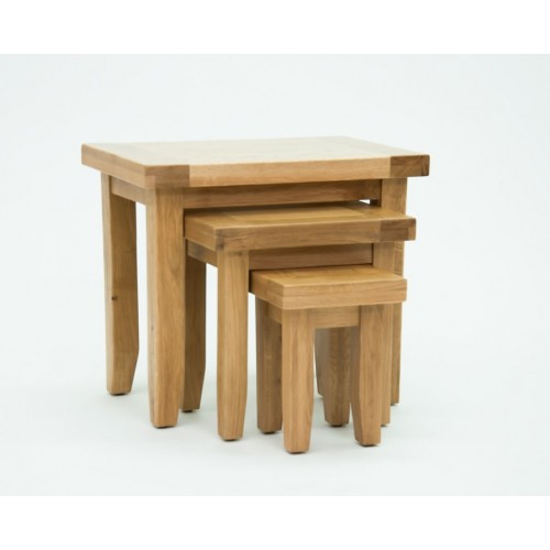 Devon Oak Nest of Tables