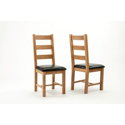 Devon Oak Richmond Dining Chairs - PAIR
