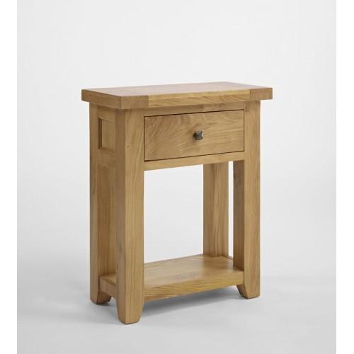 Devon Oak Small 1 Drawer Console Table