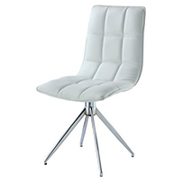 Brody Dining Chair Chrome & White (2s)