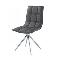 Brody Dining Chair Chrome & Black (2s)