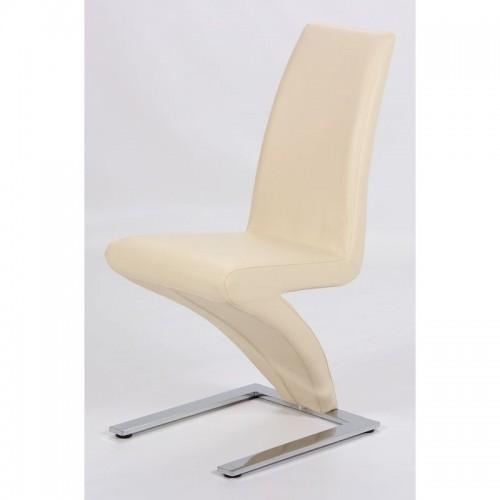 Ankara Dining Chair Chrome & Cream