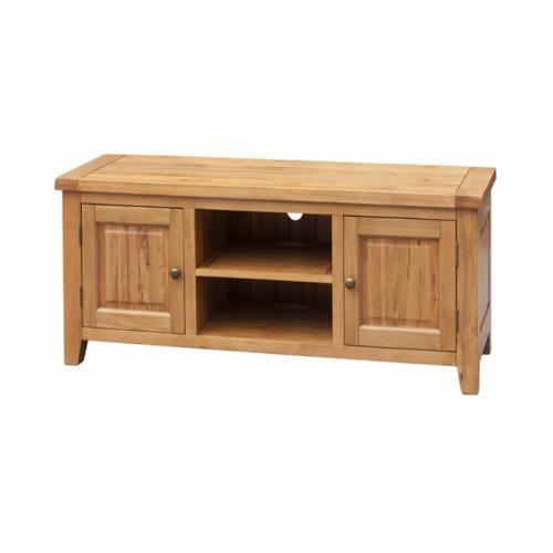 Acorn Solid Oak TV Unit Straight