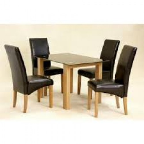 Adina Black Dining Table Small