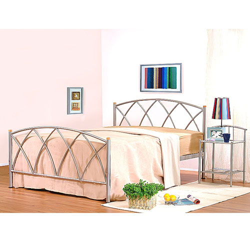 Alamo Double Bed Silver