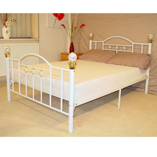 Alamo Double Bed White