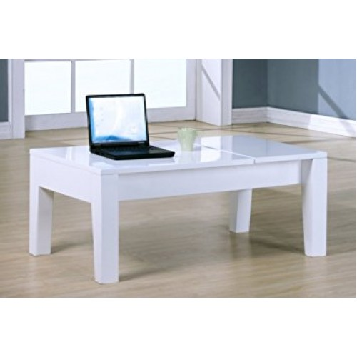 Alison High Gloss Lift Up Coffee Table White