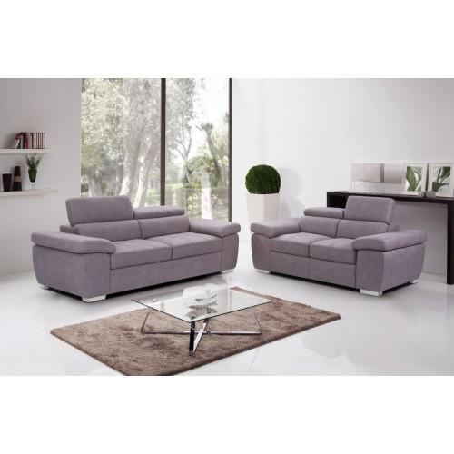 Amando Fabric 2 Seater Sofa Mushroom