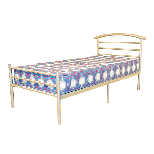 Amber Bed Single Silver/Beech