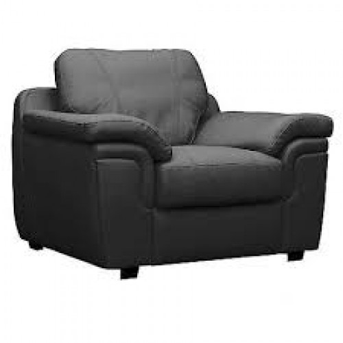 Amy Sofa Bonded Leather 1 Seater Black
