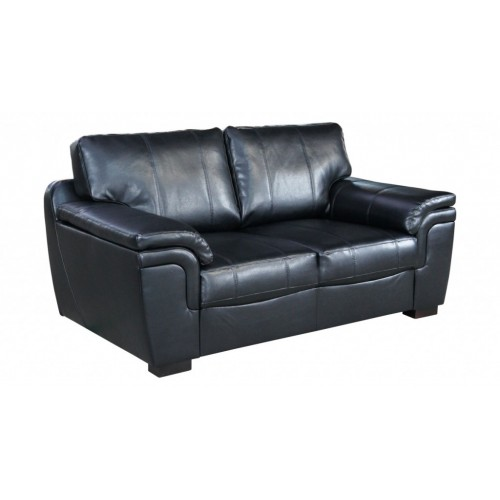 Amy Sofa Bonded Leather 2 Seater Black