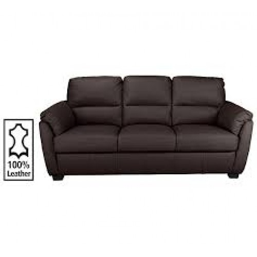 Amy Sofa Bonded Leather 3 Seater Chocolate D
