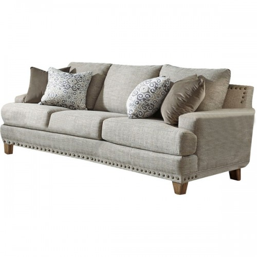 Amando Fabric 3 Seater Sofa Beige