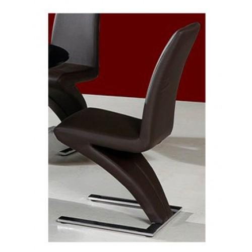 Ankara Dining Chair Chrome & Brown