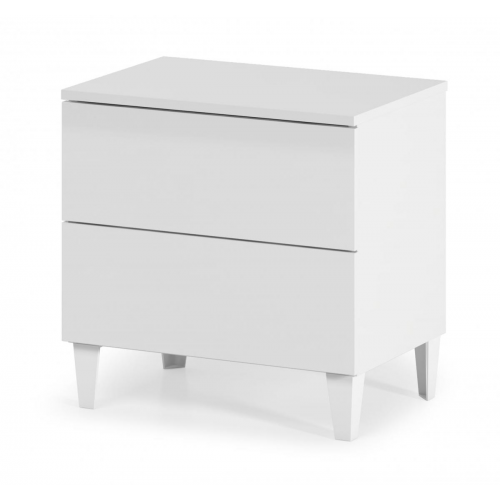 Arctic Chest 2 Drawer High Gloss White