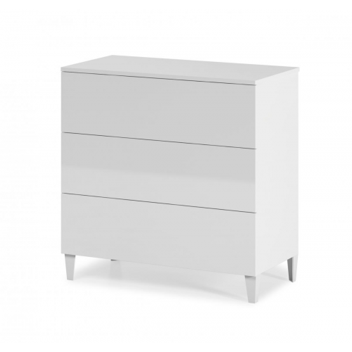 Arctic Chest 3 Drawer High Gloss White