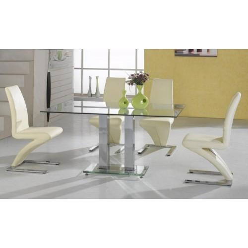 Ankara Large Dining Table Chrome