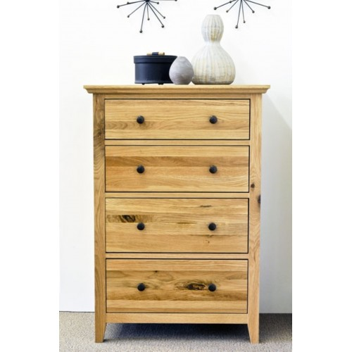 Hereford Rustic Oak 4 Drawer Medium Chest