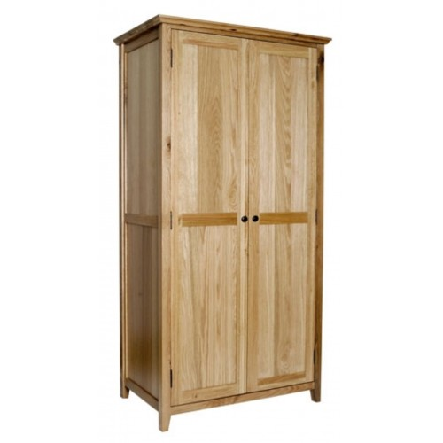 Hereford Rustic Oak Full Hanging Wardrobe