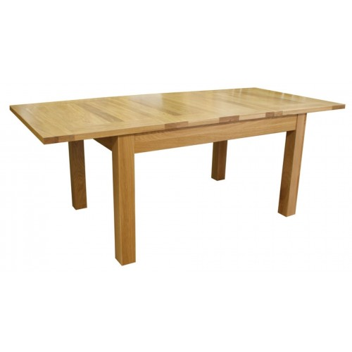 Hereford Rustic Oak Large Extending Dining Table -1350-2030mm
