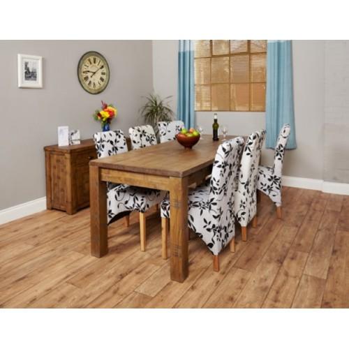 Heyford Rough Sawn Oak Extending Dining Table (Seats 4-8)