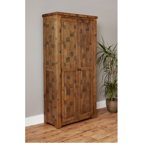 Heyford Rough Sawn Oak Large Shoe Cupboard