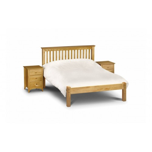 Barcelona Bed High Foot End Pine 135cm Antique Finish