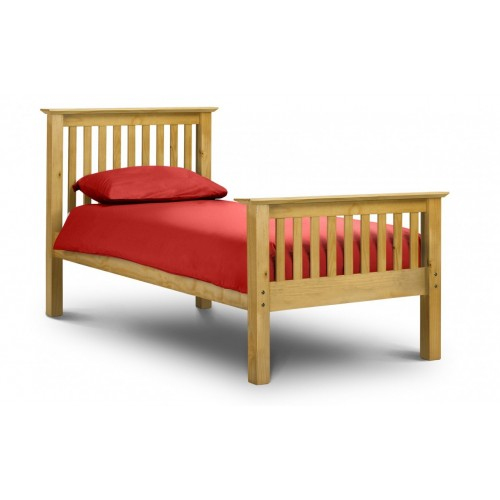 Barcelona Bed High Foot End Pine 150cm Antique Finish
