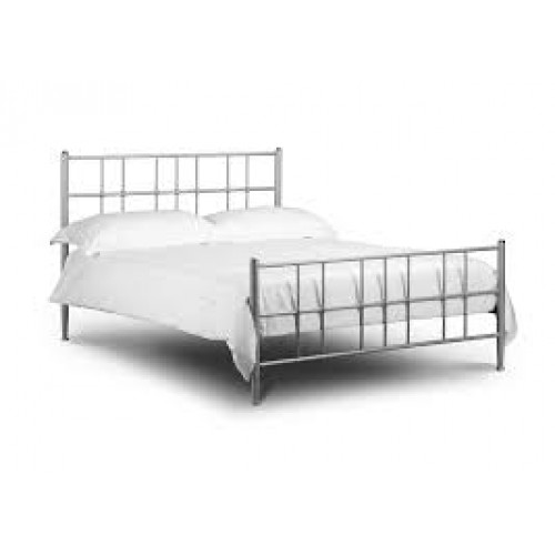 Braemar Bed Aluminium Finish 135cm Metal Bed