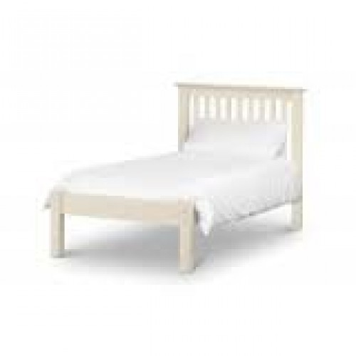 Georgina Stone White Bed 180cm Flat Pack Only
