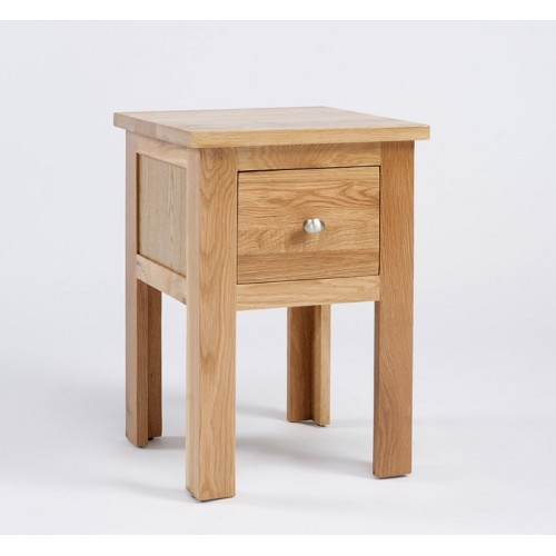 Lansdown Oak 1 Drawer Lamp Table
