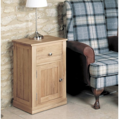 Mobel Oak One Door one Drawer Lamp Table