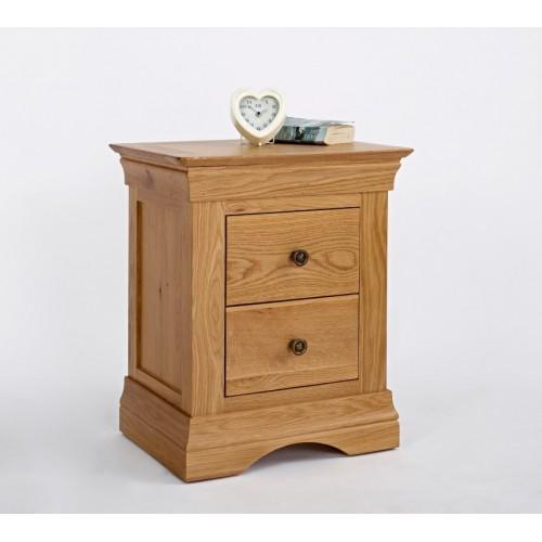 Normandy Oak 2 Drawer Bedside