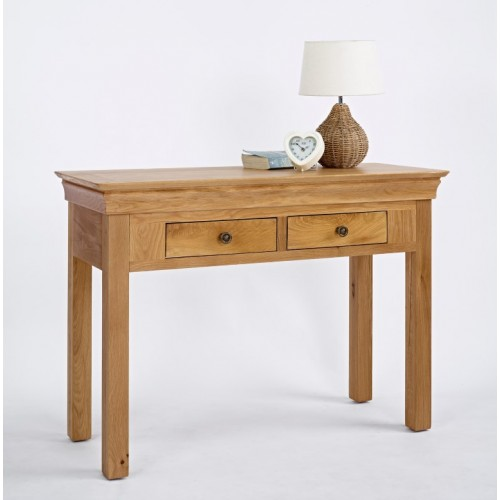 Normandy Oak 2 Drawer Console Table