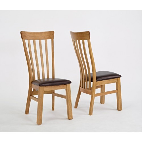 Normandy Oak Chair (PU Seat)