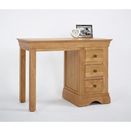 Normandy Oak Single Pedestal Dressing Table