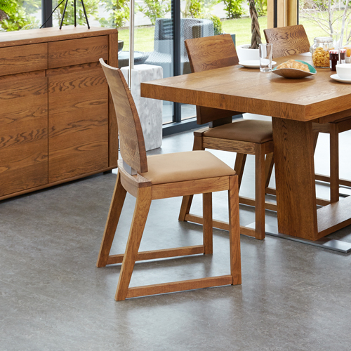 Olten - Cappuccino Dining Chair in Oak Finish (Pack Of Two)