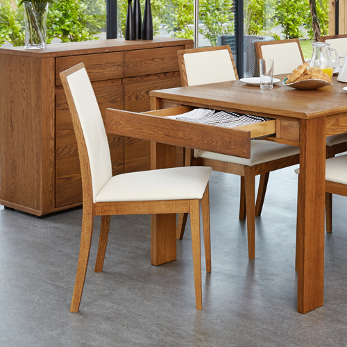 Olten - Cream Dining Chair in Oak Finish (Pack Of Two)