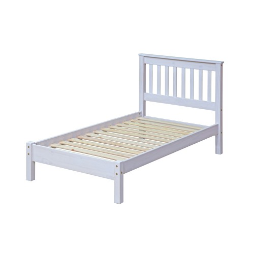 "3'0"" Slatted Lowend Bedsteadcorona White Washed"