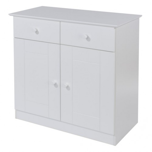 2 Door, 2 Drawer Small Side Board Aspen White Painted