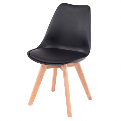 Aspen Padded Pu Chair, Black