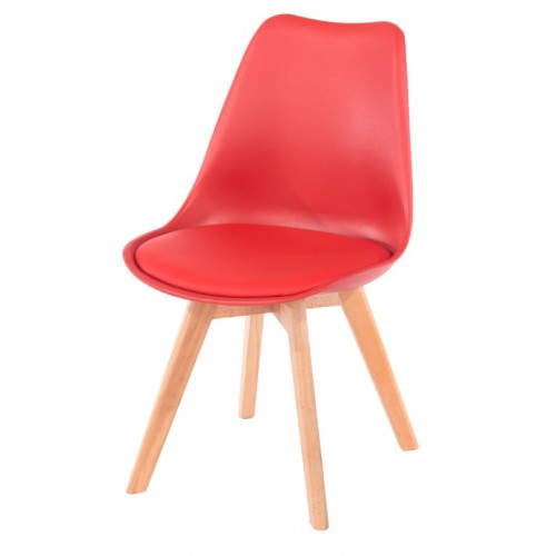 Aspen Padded Pu Chair, Red