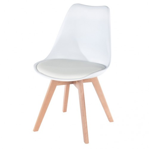 Aspen Padded Pu Chair, White
