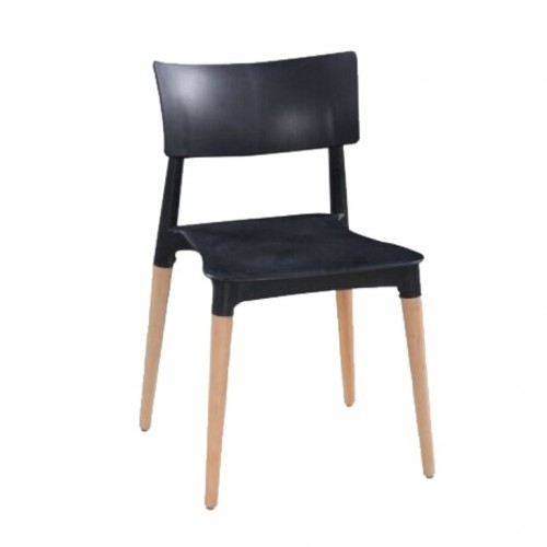 Aspen Plastic Chair 3, Black