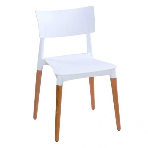 Aspen Plastic Chair 3, White