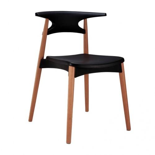 Aspen Plastic Chair 4, Black