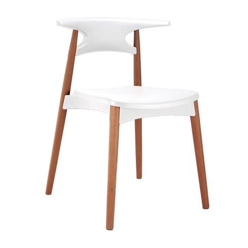 Aspen Plastic Chair 4, White