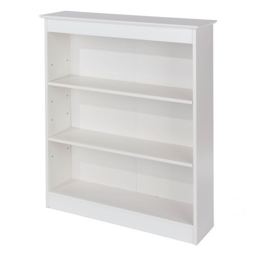 Low Wide Bookcase Aspen White Painted